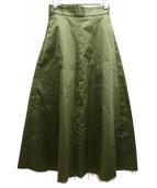 upper hights(アッパーハイツ)の古着「ハイウエストチノAラインスカート」|グリーン