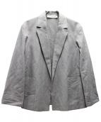 GALERIE VIE(ギャラリーヴィ)の古着「コットンリネンポプリンジャケット」|ピンク
