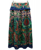 Plage(プラージュ)の古着「スカーフプリントスカート」|ネイビー