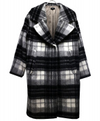 NINE(ナイン)の古着「ウールシャギーコート」 グレー