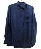 REGULATION Yohji Yamamoto(レギュレーションヨウジヤマモト)の古着「オールドキュプラシャツ」|ネイビー