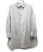 plantation(プランテーション)の古着「カットワークレースシャツ」 グレー