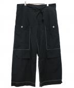 Ujoh(ウジョー)の古着「ドローコードワ-クパンツ」|ブラック