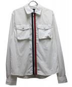 KITH(キス)の古着「ミリタリークリスピーナイロンワークシャツ」|ホワイト