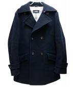 BURBERRY BLACK LABEL(バーバリーブラックレーベル)の古着「ウール裏ノヴァチェックPコート」|ネイビー