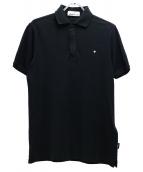 STONE ISLAND(ストーンアイランド)の古着「ハーフジップポロシャツ」|ブラック