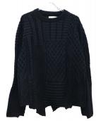 bukht(ブフト)の古着「クレイジーパッチワークセーター」 ブラック