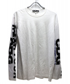 CDG(コム・デ・ギャルソン)の古着「スリーブプリントカットソー」 ホワイト