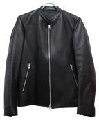 LIDnM(リドム)の古着「シープシングルライダースジャケット」 ブラック