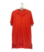 Y's for men(ワイズフォーメン)の古着「オープンカラーシャツ」|レッド