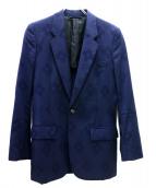 Martin Margiela 10(マルタンマルジェラ10)の古着「フラワー刺繍2Bジャケット」|ネイビー