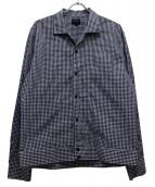 Noah(ノア)の古着「ギンガムチェックシャツジャケット」|ネイビー