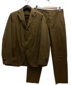 LARDINI(ラルディーニ)の古着「ストレッチコットン3Bシングルスーツ」|カーキ