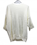 blurhms(ブラームス)の古着「コットンキュプラワッフルハーフスリーブプルオーバー」 ホワイト