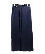 Ys(ワイズ)の古着「オールドサイドプリーツスカート」|ネイビー