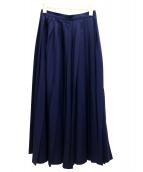 Ys(ワイズ)の古着「オールドプリーツスカート」|ネイビー