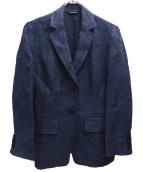 MAX MARA WEEK END LINE(マックスマーラ ウイークエンドライン)の古着「リネン2Bジャケット」|ネイビー