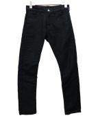 JIL SANDER(ジルサンダー)の古着「ブラックテーパードデニムパンツ」|ブラック