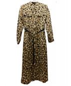 allureville(アルアバイル)の古着「アニマルドットワンピース」 ブラウン