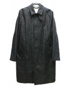 MACKINTOSH(マッキントッシュ)の古着「コットンデニムステンカラーコート」|インディゴ
