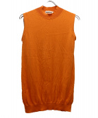 ENFOLD(エンフォルド)の古着「ハイネックノースリーブニット」|オレンジ