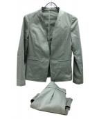 NOLLEYS(ノーリーズ)の古着「ラミーウォッシャブルセットアップスーツ」|カーキ