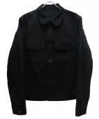 LOUIS VUITTON(ルイヴィトン)の古着「モノグラムデニムジャケット」|ブラック