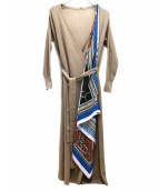 Diagram(ディアグラム)の古着「スカーフニットカーディガン」 ブラウン