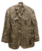 伊太利屋(イタリヤ)の古着「刺繍ジャケット」|ベージュ