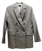 NINE(ナイン)の古着「ヘリンボーンダブルジャケット」|グレー