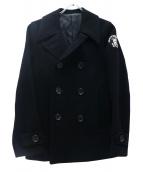 WACKO MARIA(ワコマリア)の古着「スカルワッペンPコート」|ブラック