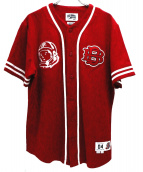BILLIONAIRE BOYS CLUB(ビリオネアボーイズクラブ)の古着「ベースボールシャツ」|レッド