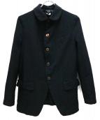 COMME des GARCONS COMME des GARCONS(コムデギャルソンコムデギャルソン)の古着「ウール縮絨ジャケット」|ブラック