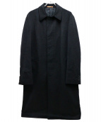 Paul Smith London(ポールスミスロンドン)の古着「カシミヤ100%ステンカラーコート」|ブラック