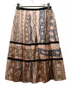 MARNI(マルニ)の古着「チェーンプリントスカート」|ピンク