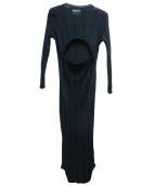 TAN(タン)の古着「リブイレギュラーワンピース」 ブラック