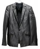 Roen(ロエン)の古着「スカルパッチテーラードジャケット」 グレー