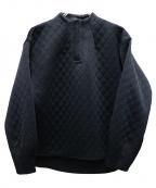 NINE(ナイン)の古着「ウェーブキルトトップス」|ブラック
