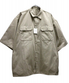 SSZ × A.H(エスエスジィー×アキオハセガワ)の古着「別注ワークシャツ」|ベージュ