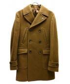L.B.M.1911(エルビーエム1911)の古着「ウールカシミヤポロコート」 ブラウン