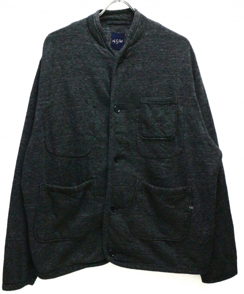 45R(フォーティファイブアール)45R (フォーティファイブアール) ヘリテージUS裏毛のカーディガン グレー サイズ:4 参考定価29.000円+税の古着・服飾アイテム