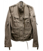 Dior Homme(ディオールオム)の古着「ミリタリージャケット」|カーキ
