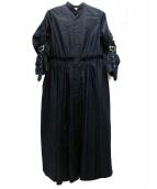 noir kei ninomiya(ノワール ケイ ニノミヤ)の古着「ベルテッドスリーブシャツワンピース」|ブラック
