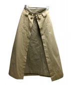 Ameri(アメリ)の古着「サスペンダースカート」|ベージュ
