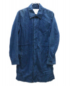 REMI RELIEF(レミレリーフ)の古着「ステンカラーコート」 インディゴ