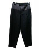 ETHOSENS(エトセンス)の古着「ドローコードパンツ」|ブラック