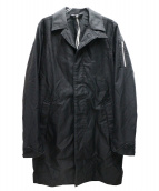 KAZUYUKI KUMAGAI ATTACHMENT(カズユキクマガイ アタッチメント)の古着「ミリタリーサテンワークコート」 ブラック