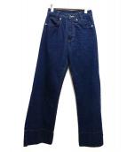 MADISON BLUE(マディソンブルー)の古着「ワイドフレアデニムパンツ」 インディゴ