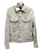 EMMETI(エンメティ)の古着「スウェードジャケット」 アイボリー