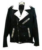 DIESEL(ディーゼル)の古着「切替ダブルライダースジャケット」|ブラック